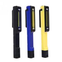 Wholesale wholesale pocket light pen for sale - Portable Outdoor Torch Mini W COB LED LM Inspection Light Lamp Pen Shape Pocket Clip Work Hand Lamps