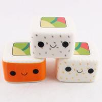 encantos sushi venda por atacado-Alta Qualidade Kawaii Squishy Sushi Japonês Lento Rising Anti Stress Squishies Brinquedos Squishy Telefone Celular Encantos Saco KeyChain