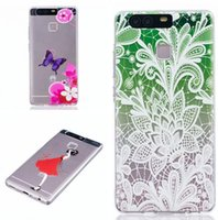 Wholesale Lenovo Cartoon Cover - For Huawei Ascend P9 P8 Lite Lenovo A6000 Flower Soft TPU Case Cartoon Girl Mandala Butterfly Vanessa Wind chimes Clear Silicone Skin Cover