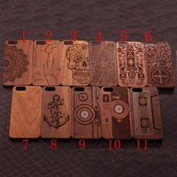 Wholesale Vintage Wooden Apple - Classic Retro Natural Vintage Walnut Wooden Case Cover for Iphone SE 5S 5 6 6S Plus Hard Wood+PC Mobile Phone Cases High Quality