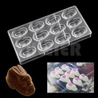 Wholesale plastic rabbit shapes for sale - Group buy Rabbit shape polycarbonate candy chocolate mold DIY lovely sugar cake chocolate Confectionery tools baking pastry chocolate mold