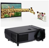 Wholesale Vga Prices - Factory Price!!! VS-508 New 1080P 3D LED Projectors HD HDMI AV USB VGA SD Projector 2000Lumens Home Cinema Theater DHL Fast Shipping