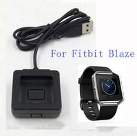 Wholesale Micro Usb Cradle - 1pcs Black USB Power Charging Cradle Black Charger Dock + Micro USB Cable for Fitbit Blaze Smart