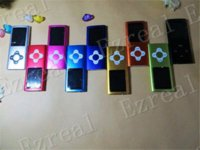 Wholesale Mp4 8gb Flower - 8GB 4th MP4 Music Player Plum Flower Cross Button Mp3 Player FM Radio VIDEO Ebook, full set ,10pcs lot, Christmas Gift