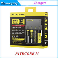 Wholesale Hotselling Original - Original Nitecore I4 Charger 4 in 1 Intellicharger Universal battery Charger for 18650 14500 17670 18490 17500 17335 CR123 HOTSELLING