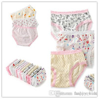 Wholesale Cute Lace Comfortable Underwear - Toddler Girls Underwear Fashion New Kids Cute Lace and Printing Underwear Hot Children Breathable and Comfortable Underwear
