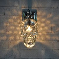 Wholesale Skull Knobs - Loft Industrial Glass Retro Wall Lamp Light Skull Wall Sconce Lights Hotel KTV Bedroom Living Room Corridor Light Wall Mount Light