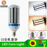 Wholesale Speed Building - LED E40 100w Corn Bulb 11000LM 85V-277V LED Corn Light SMD 5730 E27 Built-in High Speed Cooling Fan Replacing 400W halogen lamp