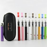 Wholesale Ego T Starter Kit Zipper - Glass Globe Atomizer Zipper Kit Wax Vaporizer Tank Dry Herb Vape Pen Starter Kits With EGO T Battery Electronic Cigarettes