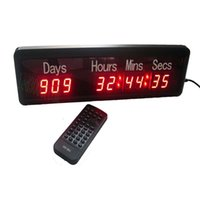 Wholesale Wall Countdown Timers - Free shipping big size 999day,hours,minutes and seconds led countdown up LED Timer Digit clock wall clock IR remote control high bright