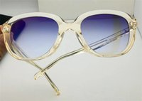 New fashion women sunglasses 41888 cat eye crystal translucent frame selling women popular design simples verão estilo qualidade superior com caixa