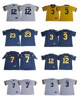 Wholesale Black Evans - Michigan Wolverines college Football #3 Rashan Gary 7 Khaleke Hudson 12 Chris Evans 23 Tyree Kinnel White Gold Navy Blue Stitched Jerseys