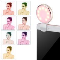 Alta qualidade Universal LED Flash Selfie Ring Light Luxo Smart Phone Light Up Selfie Luminous Ring com carregamento USB para iPhone para Samsung