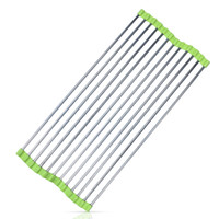 Wholesale Drain Dish Rack - Roll Up Dish Drying Rack Over The Sink Draining Water Working Platform Saving Place Stainless Steel Foldable