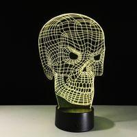 Wholesale Led Light Dropshipping - 2017 Spooky 3D Optical Illusion Lamp Night Light DC 5V USB AA Battery Wholesale Dropshipping Free Shipping Retail Box