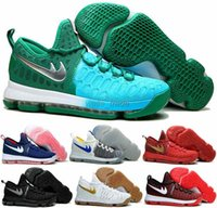 Wholesale Kd High Cut - 2016 newest arrival high quality KD 9S Basketball shoes Kevin Durant KD 9 Green Red black sneakers Trainers Athletic Sport shoes Eur 40-46
