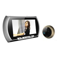 Écran LCD à écran LCD de 4,3 po Sonnerie Sonnerie Digital Door Peephole Viewer Camera Door Eye Enregistrement vidéo 140 degrés Vision nocturne Silver Color