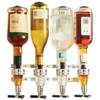 ingrosso bar dispenser vino-Montato a parete 4 distributori di vino distributore di vino bar maggiordomo potabile versatore bar a casa strumenti per birra soda coke fizzy soda
