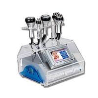 máquina de cavitação de gordura ultra-analógica tripolar venda por atacado-5 em 1 máquina gorda da cavitação cavitação do vácuo da cavitação 40K Máquina ultra-sônica do emagrecimento da lipoaspiração com RF Sixpolar de Tripolar