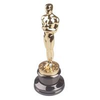 Wholesale Music Baseball - 34CM Original Size Oscar Statuette Trophy Award Metal Scale Replica Music TV Movie Fans Souvenirs