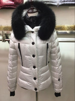 Wholesale Down Coat Ladies Pattern - Hot Down Coats Discount Fashion Style Puffer Down Parkas For Ladies Real Fur Hood Slim Clothes