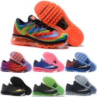 Drop Shipping Atacado Sapatos de corrida Men Women Air Cushion 2016 New Sneakers de cor Tear Cheap Discount Sports Shoes Size 36-46