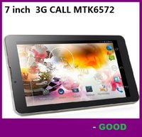 Wholesale Chinese Dual Core Tablet - 7 inch 3G Phablet Phone Calling Tablet PC MTK6572 Dual Core Android 4.4 Capacitive Touch WCDMA GSM Bluetooth Camera Dual Sim Card 512MB 8GB