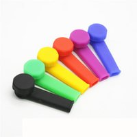 2017 Classic Silicone Smoking Pipe Mini Water Acrylique Hookah Bong Multi Colors Portable Shisha Hand Pipes