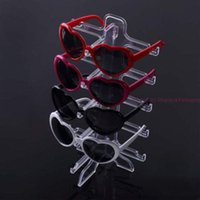 Wholesale Racks Glass - Big Sales Fashion Portable Clear Acrylic Plastic 5 pairs Rack Glasses Stand Frame Foldable Sunglasses Display Holder