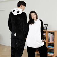 Wholesale Cute Panda Cosplay - Wholesale-Unisex Adults Cute Fluffy Kung Fu Panda Cosplay Costume Jumpsuit Pajama sets Animal Onesies Costume Pyjamas for women men