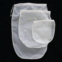 Wholesale nylon tea bags - Oval 3 size reusable milk tea fruit juice fine NYLON mesh strain filter bag E00297 SMAD