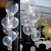 Wholesale wedding centerpieces pearls - 100PCS Clear Latex Pearl Balloons Transparent Round Balloon Party Wedding Birthday Anniversary Decor 12 inch new