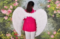 Wholesale Wings For Adult Costume - Multi-color Adult children prom dress stage performance supplies feather angel wings New Fashion 60*45cm For Free Shipping