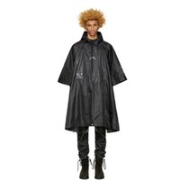 ACW A-Cold-Wall Impermeabili High Street Poncho in nylon nero Oversized Raincoats Uomo Donna Coppia Capispalla impermeabile HFYTJK003