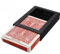Wholesale poker magic tricks for sale - Group buy 3pcs Amazing magic Deck Disappearing Vanishing Magic Card Case Close Up Magic Trick Box Fun Poker Vanishing Case