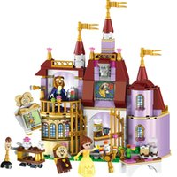 Wholesale Princess Building Blocks - 37001 Princess Belle's Enchanted Castle Building Blocks Girl Friends Kids Model Toys Figures Compatible with Lepin