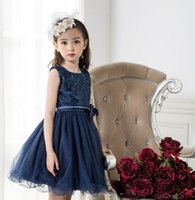 Wholesale Toddler New Years Gown - 2017 New Kid Dresses For Girls Children Infant Toddler Princess Party Wedding Dresses 3-9 Years 6101