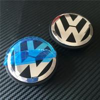 Wholesale Vw Centre Caps - 200pcs Good Quality New Car Stylying 65mm Wheel Hub Centre Cap Caps Cover Badge Emblem Badge Auto Logo 3B7 601 171 # For VW VOLKSWAGEN