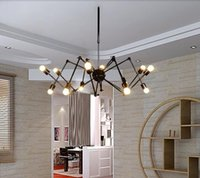 Wholesale Modern Cafe Bar - E27 Drop light Vintage Net Spider Dining Room Pendant Lights Creative Bar Pendant Lamp Fashion DIY Cafe Fairy Pendant Lamp 6 8 heads