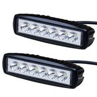 Cree led lightbars 6INCH 18W LED LUMINOSO DI LAVORO LUMINOSI DI GUIDA FLOW OFFROAD FOG 4WD BOAT UTE
