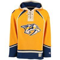 Wholesale Mens Hoodie Tops - Top Quality S-3XL Cream Customized Nashville Predators Mens Custom Hockey Hoodie Stitched Jersey Hoodies Personalized Sweatshirts