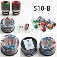 Wholesale Drip Tips Pipe - Ecig accessories Demon Killer 510-B size epoxy resin & stainless steel drip tips flat mouth for Smok tfv8 baby vape pipes