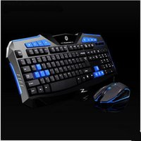 Wholesale Computer Mouse Set - Hot Sale New Red and Blue Gaming Wireless 2.4G Keyboard and Mouse Set High Sensetivity Game Kit For Computer Multimedia Gamer