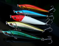 Wholesale Slow Sinking - Fishing Lure Slow Sinking Pencil 15g Long Range Casting Bait 8cm Artificial Lures 3 Times Treble Hook