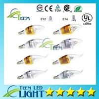 ampoules e12 9w achat en gros de-DHL Dimmable 9W Cree LED bougie ampoule E14 E12 E27 lumière lampe haute puissance led downlight led lampes lustre éclairage 110-240V 100