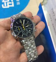 Wholesale Watches For Women Stopwatch - All Subdials Work AAA Mens Women Watches Steel Quartz Wristwatches Stopwatch Luxury Watch Top Brand relogies for men relojes Best Gift