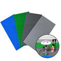 Wholesale Wholesale 16 Cm - Small Blocks Base Plate 32*16 Dots 12.7*25.5 Cm building blocks DIY Baseplate For Minifigures Compatible with Legoe Blocks JF-290