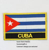 Wholesale cuba wholesalers - Cuba Flag Patches Iron on patches,embroidery patches,logo embroidery patches,embroidery patches for clothing,custom embroidery patches,