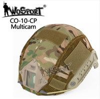 ingrosso copertura tattica di casco airsoft-WOSPORT Tactical Veloce Casco Copertura Caccia Airsoft Paintball panno MH PJ BJ Style Helmet Accessorio per Paintbal