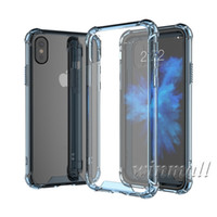 Wholesale Rubber Case Iphone Gold - Cheap Hybrid Rubber Shockproof Heavy Duty Armor Bumper Soft TPU Frame + Hard Acrylic Back Cover Case For iPhone X 8 iPhone 6s S8 Note 8